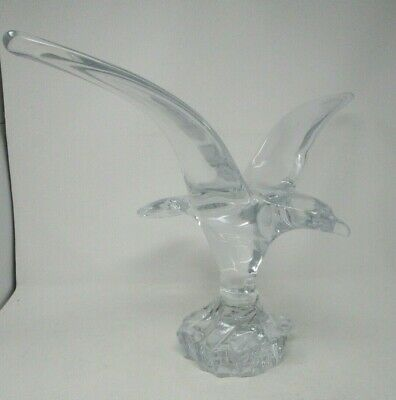 Daum Crystal EAGLE France French Crystal Sculpture Large 21 In Wingspan • 491.96£