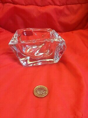 Excellent Condition Rare Vintage Signed Daum France Crystal Glass Ashtray • 40£