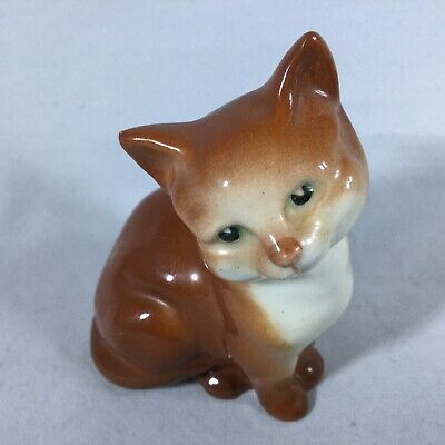 Beswick Persian Cat / Pussycat Miniature - Ginger/Brown - Excellent Condition! • 14.50£