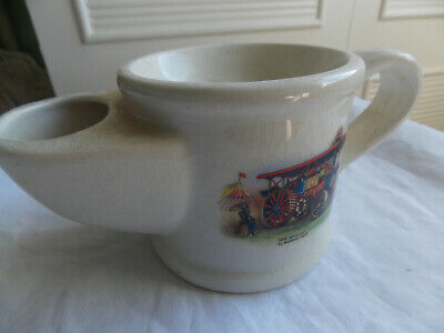 Vintage Shaving Mug By Wade, Steam Engine Decoration • 2.99£