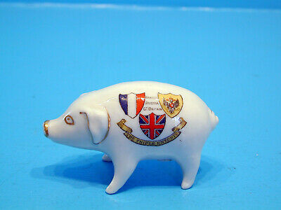 Crested China Pig - The Triple Entente. France Russia Gt.Britain • 19.99£
