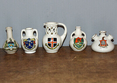 5 X Crested Ware Arcadian Shelley • 4£