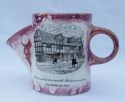 Grays Pottery Lustre Shaving Mug - House Which The Immortal Shakespeare Was Born • 19.99£