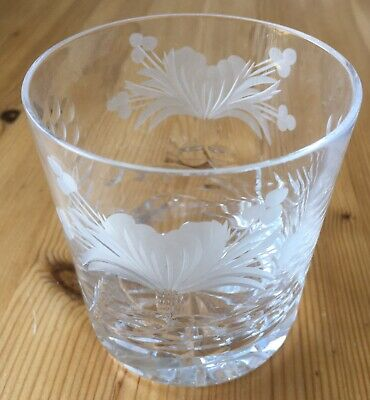 Royal Brierley Cut Glass Lead Crystal HONEYSUCKLE Design Whisky Glasses Unmarked • 10£