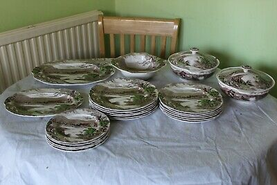 Old Dinner Service Alfred Meakin  England Around 20 Pieces • 18£