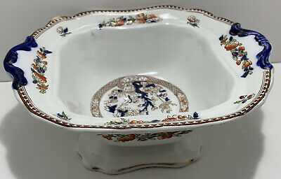 Vintage Hancock & Sons Stoke On Trent Indian Tree Sauce Tureen • 4.99£