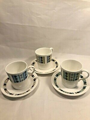 Vintage Royal Adderley Masquerade Cappuccino Cup & Saucers - Beautiful Condition • 7.99£