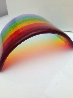 Fused Glass Rainbow Arch - 20% Donated To The NHS Charity • 25£
