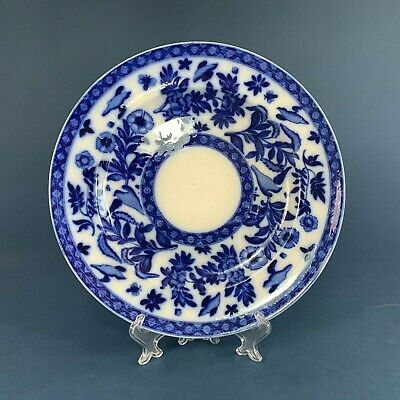 Blue And White Flow Blue Plate Unknown Mark • 12.50£