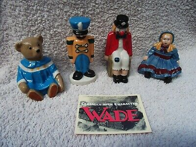 Wade Collectors Club Toy Box Complete Set Teddy, Soldier, Clown & Doll 1998. • 39.99£