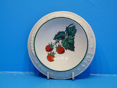 W.H.Goss Butter Dish,  Waste Not , Heads Of Wheat, Strawberries • 24.99£