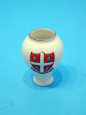 W.H.Goss Crested China Ostend Vase - Ludham • 9.99£