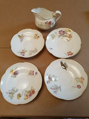 Vintage Nearly Antique George Jones Crescent Bone China Pansies Rd. 186000 • 20£