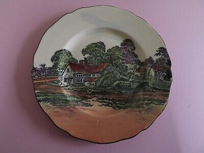 Vintage Royal Doulton English Country Cottage Scene Plate • 10£