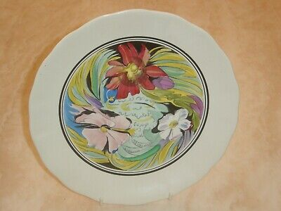 Clarice Cliff Bizarre Art In Industry 9  Plate. 1934.  Beautiful • 85£