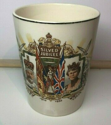 King George V & Queen Mary Silver Jubilee 1910-35 Pottery Beaker   • 13.65£