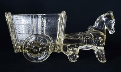 Art Deco Depression Glass Horse And Cart/Wagon, Jeanette Glass Co USA VGC • 29.99£