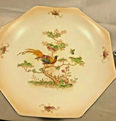 Vintage 1930's Crown Ducal Cake Stand - Exotic Birds - Good Condition • 14.99£