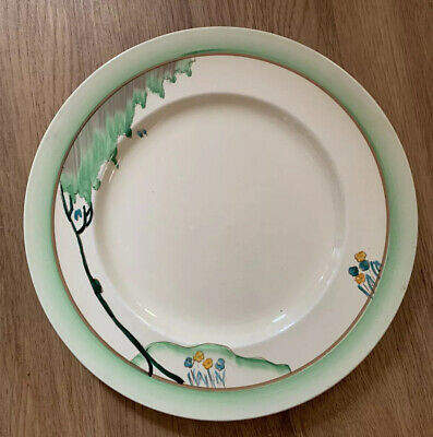 "Newport Pottery Clarice Cliff Style Dinner Plate 10"" • 5£"