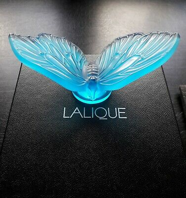 Lalique Aurore Butterfly Blue 10421000 . Brand New In Box ! Beautiful Gift Idea • 175£