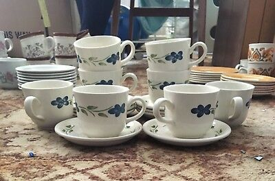 8x Tea Cups And Saucers- Marked Staffordshire Tableware • 3£