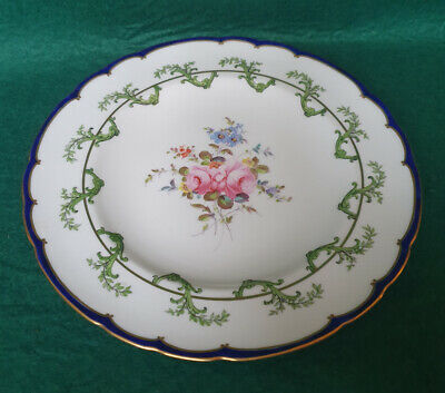 Royal Crown Derby Hand Painted Scroll & Floral Pattern 9  Plate 7997 • 17.99£
