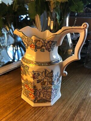 Vintage Masons Ironstone  Topaz Blue  Large 8  Flower Jug Excellent Condition • 15.50£