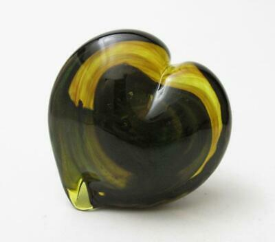 Signed Jh Pine American Studio Art Glass Heart Shaped Paperweight Jack Pine 2014 • 31.77£