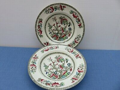 2 Johnson Bros Indian Tree Rimmed Soup Dishes 9 Inch Dessert Bowls • 5£