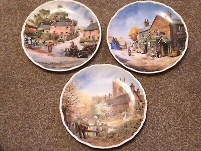 3 X Royal Doulton Village Life Collectible Plates By Anthony Forster • 7.50£