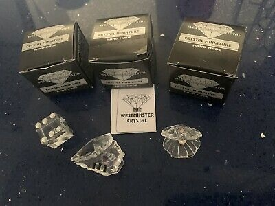 3 X Westminster Crystals Dice Piano Oyster Pearl In Shell • 0.99£