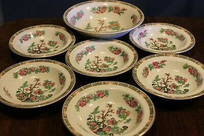 Vintage Maddock Desert Bowls Full Set India Tree Pattern • 5£