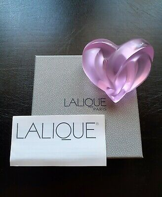 Vintage Lalique Pink Entwined Heart 1186200 Mint Condition With Box. Gift Idea • 165£