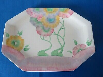 Clarice Cliff Pink Pearls Plate • 65£