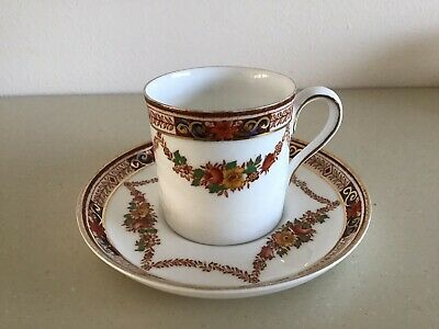 Vintage Hancocks 'Alexandra' Design Coffee Cup & Saucer Made For Selfridge & Co • 3.99£
