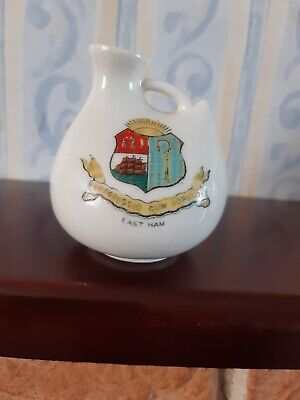 The Coronet Ware Crested China Jug/Vase. EAST HAM Crest • 4.99£