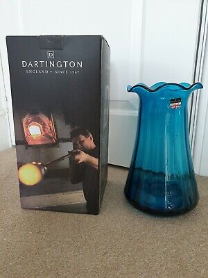 Dartington Teal/ Turquoise Vase - Collection Only • 15£