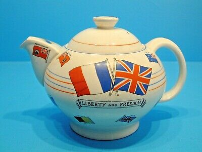 Teapot - War Against Hitlerism Made For Dyson & Horsfall Of Preston • 59.99£