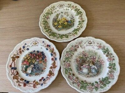 Bramley Hedge The Four Seasons Plates But Only 3 Spring, Summer & Autumn • 7.20£