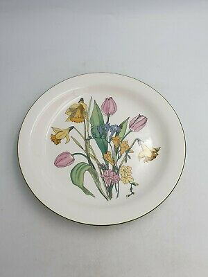 Vtg Wade Meadowland Ceramic 9.25  Plate Blue Spring Flowers Daffodils Tulips • 23.99£