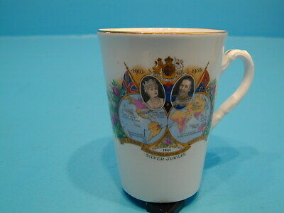 Bell China Taper Mug George & Mary Silver Jubilee 1935 • 9.99£
