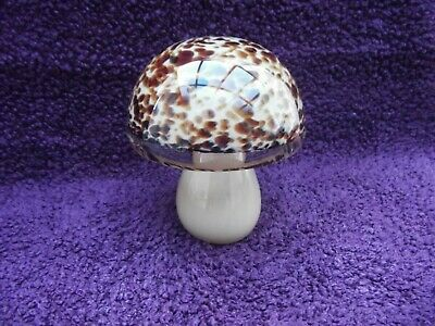 Wedgwood Glass Mushroom Paperweight Tortoiseshell Excellent Condition. • 19.99£