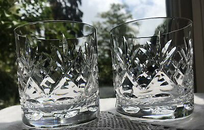 Pair Of Royal Doulton Georgian Old Fashioned Whisky Tumblers/Glasses, Signed • 22£