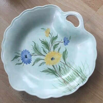 Radford Vintage Plate Pale Green With Hand Painted Flower Pattern Retro Original • 12.50£