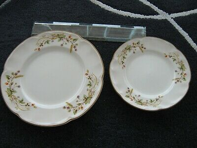 *RARE* 2x M&S HARVEST COLLECTION SCALLOPED CAKE PLATES. Excellent Condition. • 5.50£