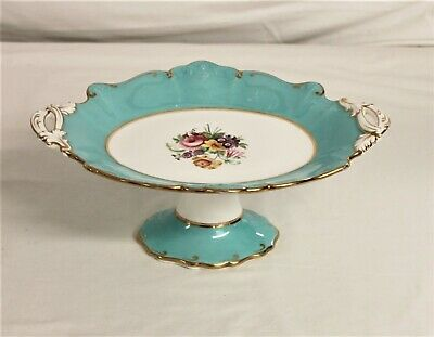 Beautiful Hand-painted  Porcelain Pedestal Dish/Tazza - Thames Hospice • 15£