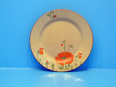 W.H.Goss Hand Painted Cottage Pottery Plate - Poppies • 7.99£