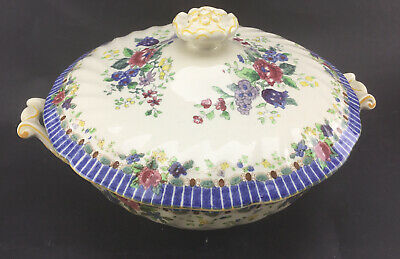 Vintage Royal Doulton 'The Vernon 'Lidded ,footed 2 Handled Serving Dish /Tureen • 7£