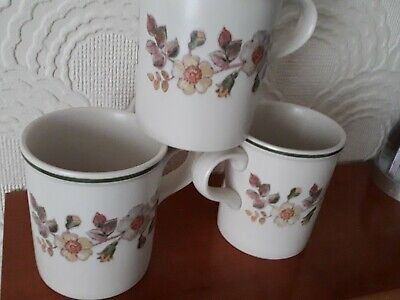 Set Of 3 MUGS MARKS AND SPENCER M&S - AUTUMN LEAVES - Unused • 13£