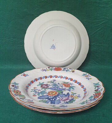 Booths Silicon China 'The Pompadour' Pattern -  9.5  Plate X3 • 8.99£
